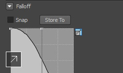 Hybrid, Volume, and Surface Falloff options in Mudbox software